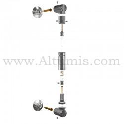 Kit Cable Pivot avec platine - signalétique suspendu par cable - Altumis