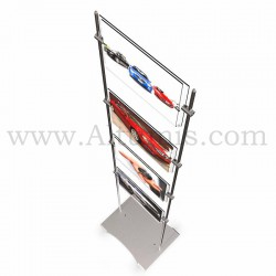 Totem d'affichage sur tige avec porte-affiche A4 Horizontal. Sobre et élégant