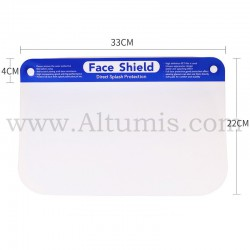 Face shield. Exclusive no-fog, optically clear plastic shield. Altumis
