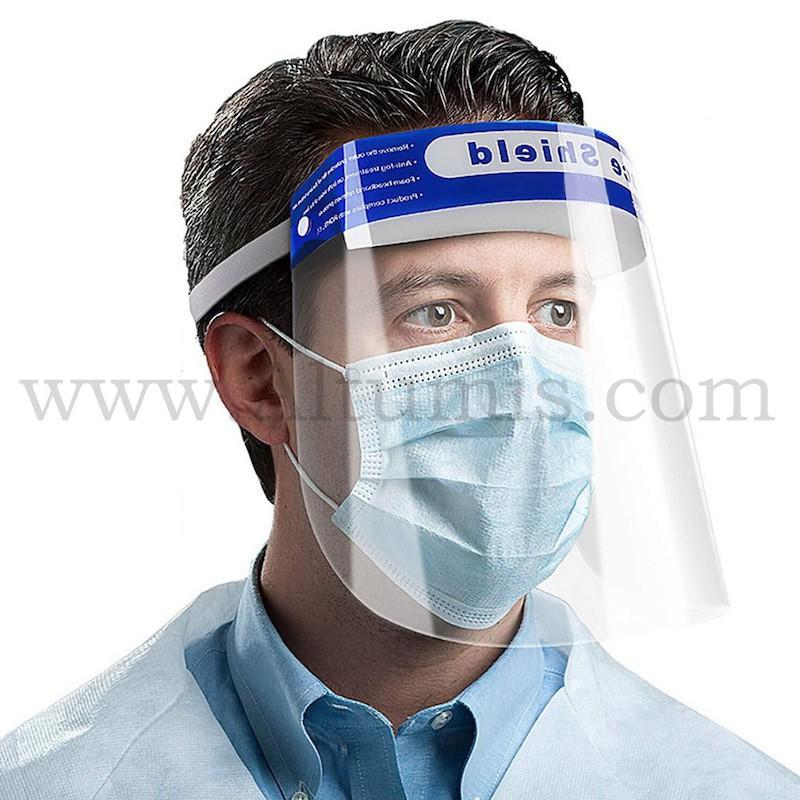 Visière de protection. Produit idéal pour la protection de microbes, germes. Protège la totalité du visage. Altumis
