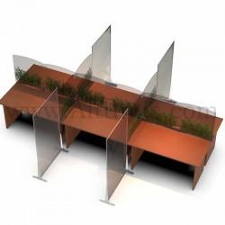 Cloison de protection en polycarbonate Autoportant. Economique pour séparer, protéger une table en open space 1. Altumis