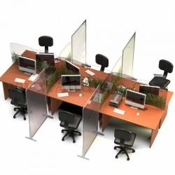Cloison de protection en polycarbonate Autoportant. Economique pour séparer, protéger une table en open space 2. Altumis