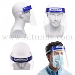 Visière de protection. Idéal pour la protection de microbes, germes. Protège la totalité du visage. En stock chez Altumis