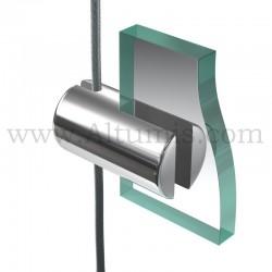 Support panneau Slim 4 mm sur câble