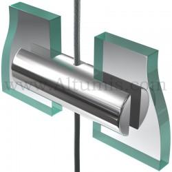 Support double panneau Slim 4 mm sur câble
