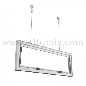 Cadre I-Frame suspendu Alu pour la signalétique, en Profil Aluminium anodisé