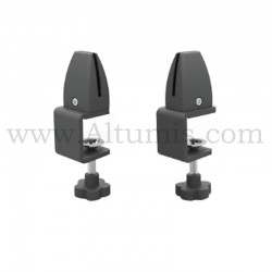 Table clamp for panel. Removable. Black