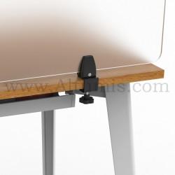 Pince de table pour panneau. Pince supérieure réversible à 90°. Pour bureau