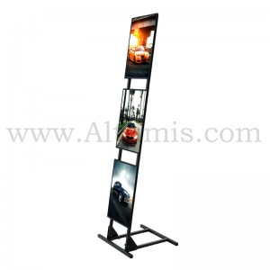 Totem d'affichage LED incliné : Superlight Stand. Format 3xA3. Altumis