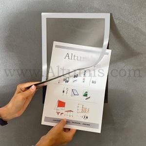 Cadre d'affichage magnétique mural de la marque Magnetis®. Altumis