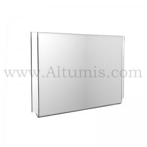 Porte-affiche Horizontal plexiglass en 3mm - Altumis