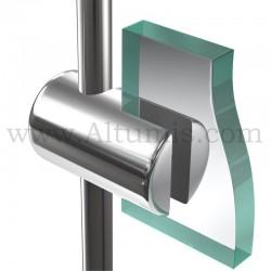 Support panneau6 mm pour tige 6 mm