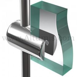 Support panneau10 mm pour tige 6 mm