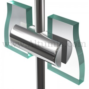 Support double panneau jusqu'à6 mm pour tige 6 mm