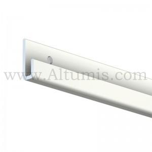 Rail cimaise blanc pour fixation tableau (2 mètres)