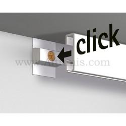 Clic Rail blanc 2M pour fixation tableau avec cimaise. facile à installer. Altumis