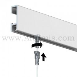 Fil cable pour rail cimaise