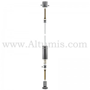 Kit Cable Sol Plafond pour cable 3 mm