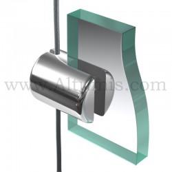 Support panneau6 mm pour cable 3 mm