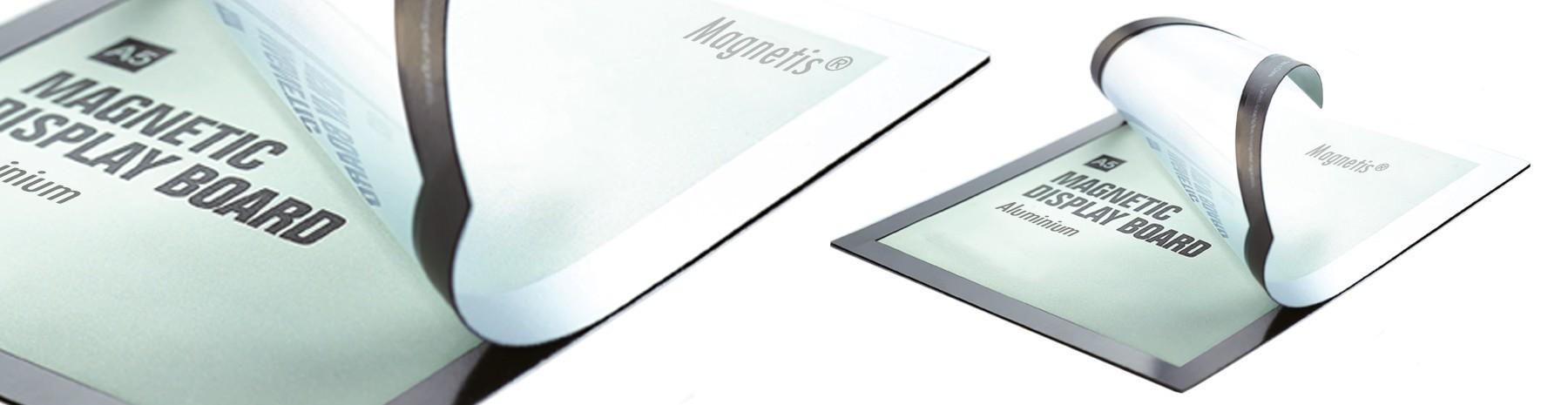 Cadre d'affichage magnétique pour vos documents graphiques.