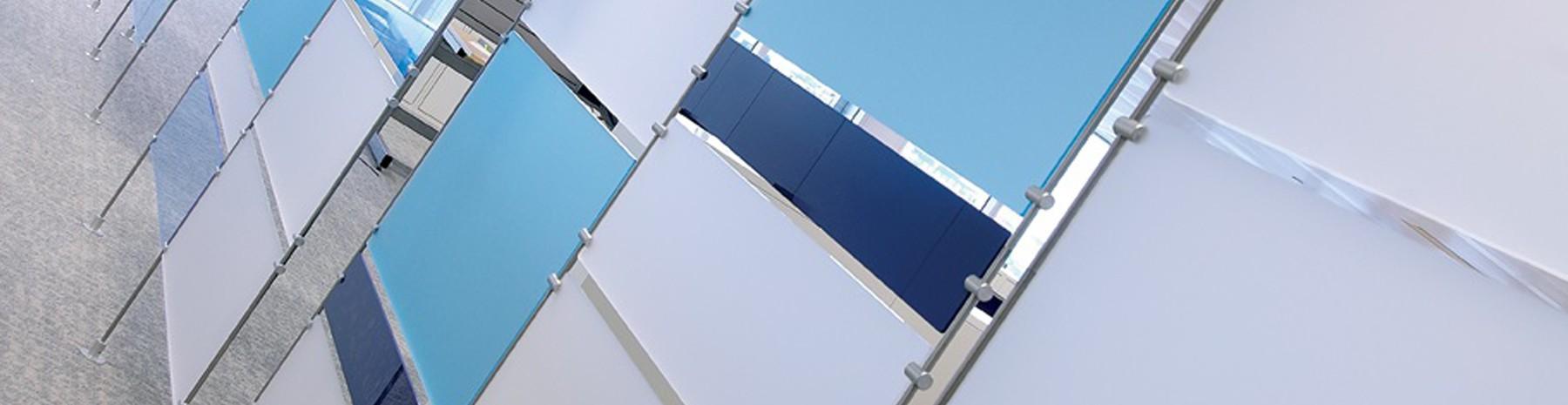 Support panneau (gamme tige Ø 10 mm) pour l'affichage suspendu
