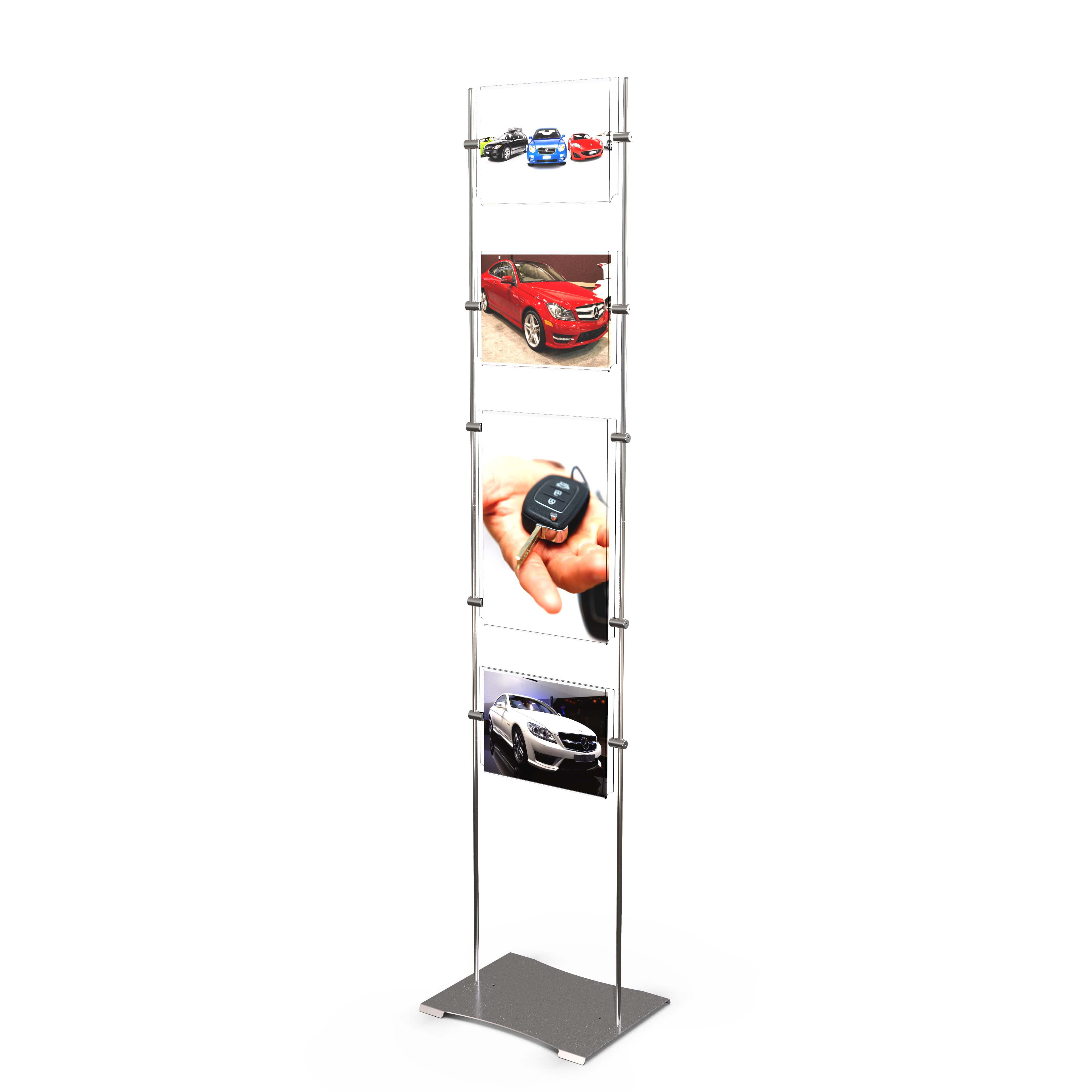 Horizontal, vertical or mixed A4 display totem