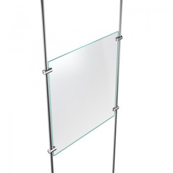 Panel support (rod range Ø 10 mm) for suspended display