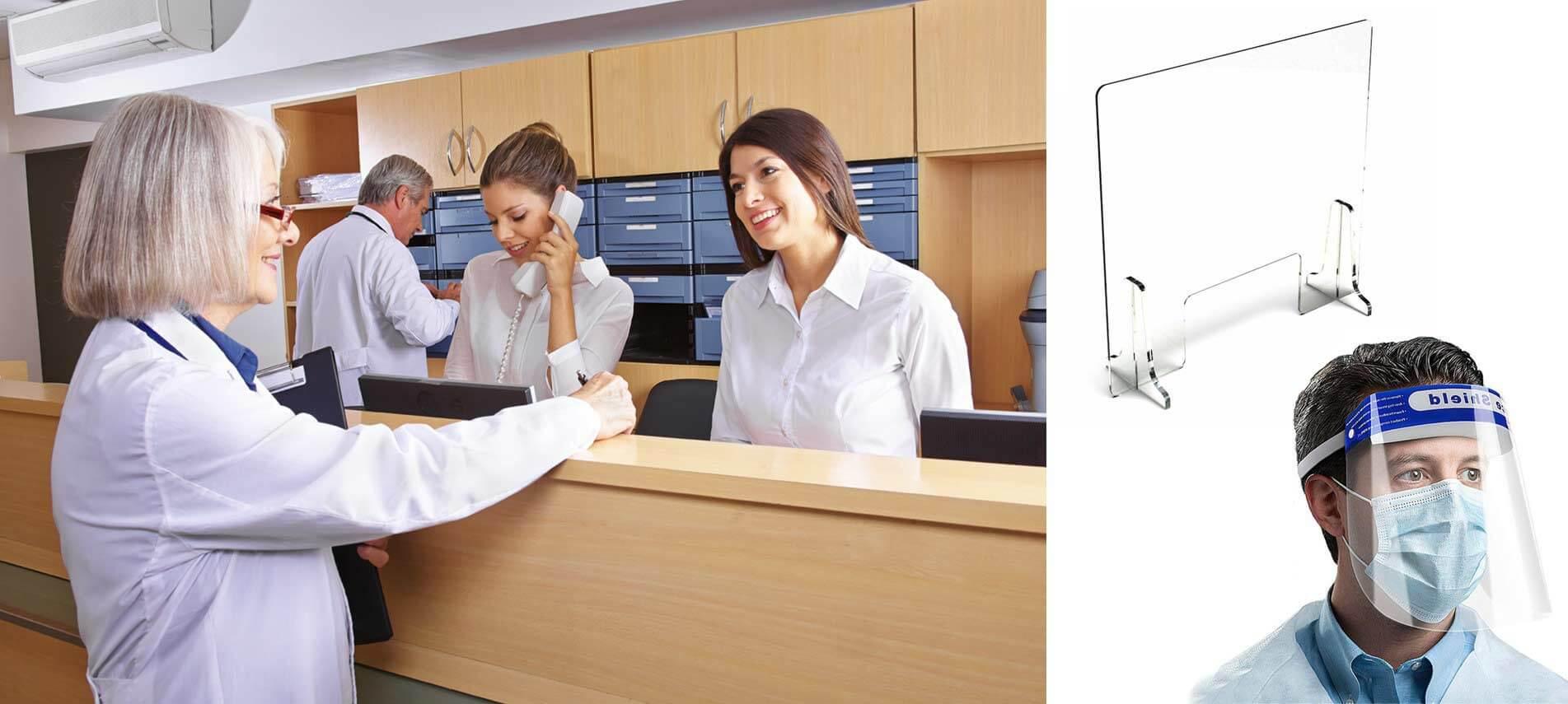 Protection en plexiglas, visière de protection, cloison de protection : Protégez vos salariés